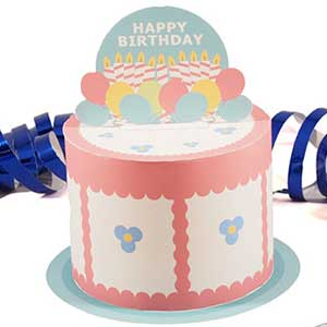 Printable Happy Birthday Cake