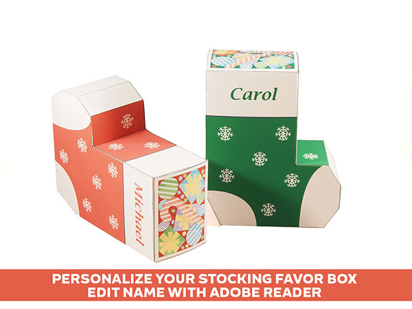Christmas Stocking favor box
