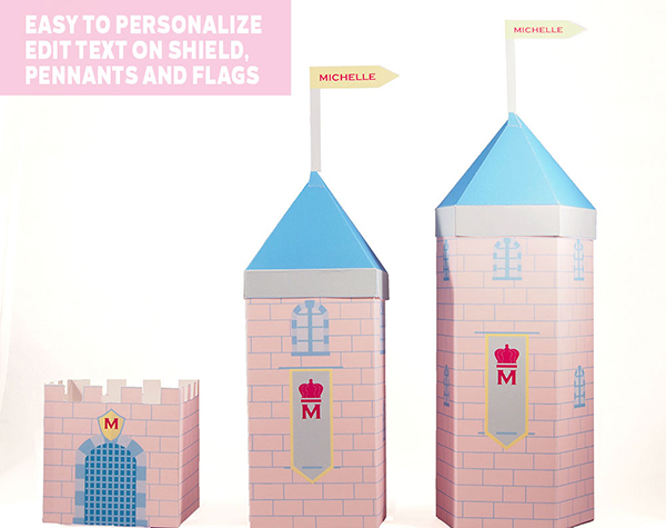 fairytale castle favor box