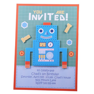 DIY party invitations – Robot