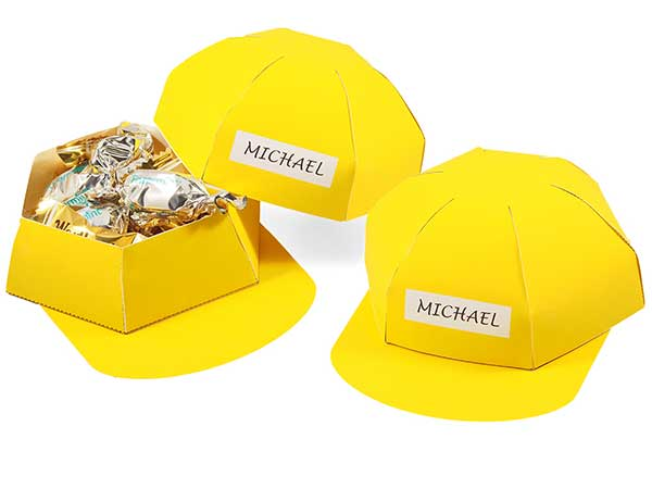 Hard hat favor box