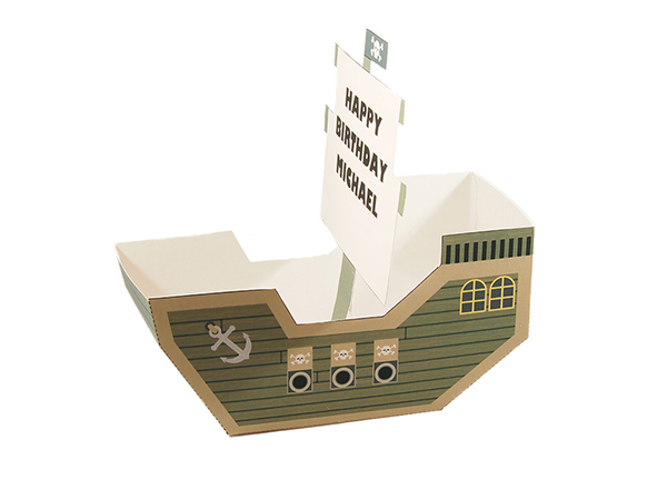pirate ship favor box