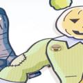 Halloween paper puppets