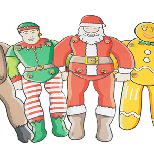 25 Christmas Paper Puppets