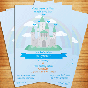 Invitation Fairy Tale themed party