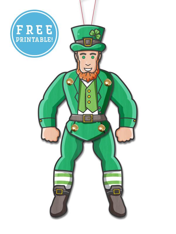 Saint Patricks Day leprechaun Paper Puppet
