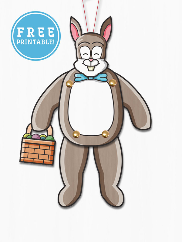 easter bunny paper puppet craft