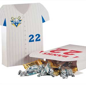 Sports themed favor bags