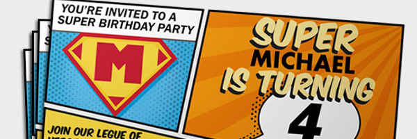 how to create your own personal superhero party invitations free printable