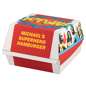 Superhero hamburger box
