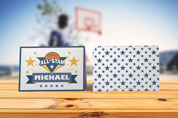 Place cards Basketball theme