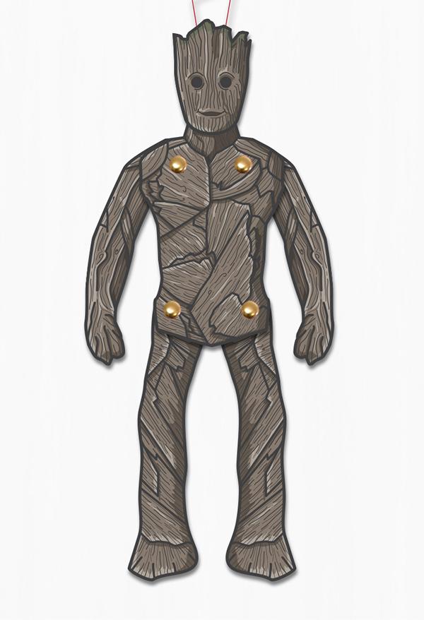 Groot superhero puppet