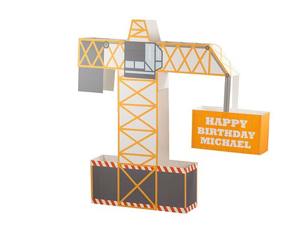 construction party theme centerpiece