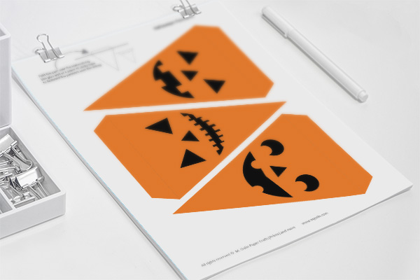 Easy Halloween decorations - Pumpkin pennants