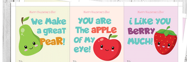 Childrens valentine cards