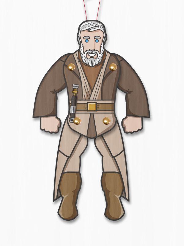 Star wars obi wan paper toy