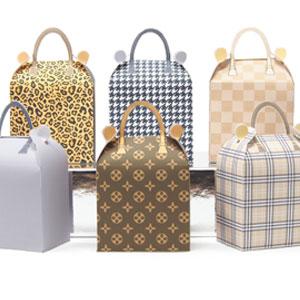 Fashion handbag favor boxes