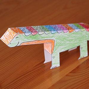 Dinosaur Paper Toy