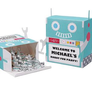 Robot theme favor box