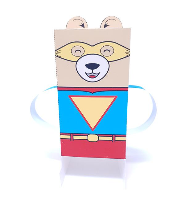 Superhero paper toy