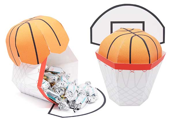 basketball theme party favor box
