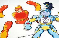 Superhero Paper Puppets