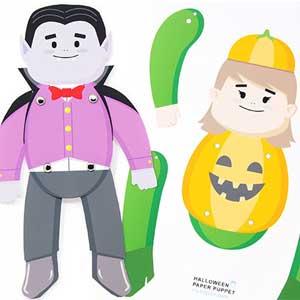 Halloween Paper Puppet