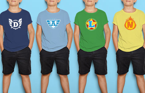 Personal Superhero kids t-shirt